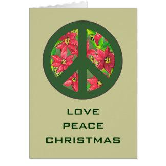 love peace christmas greeting card