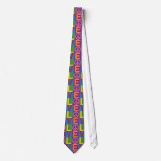 Love Peace Color Block Tie