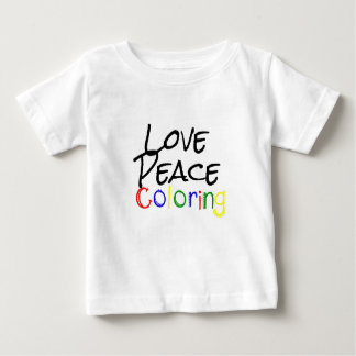 Love Peace Coloring Baby T-Shirt
