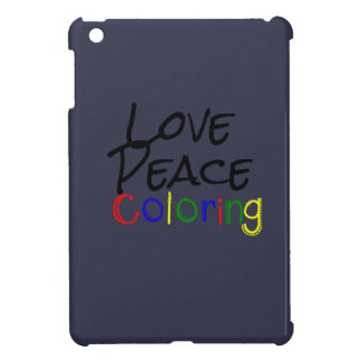 Love Peace Coloring iPad Mini Cases