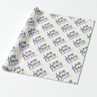 Love Peace Coloring Wrapping Paper