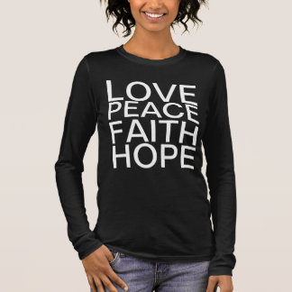 Love, Peace, Faith, Hope Word T-Shirt