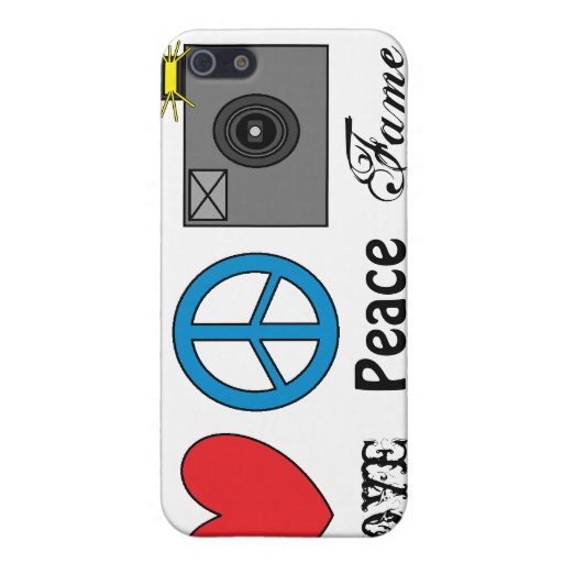 Love, Peace, Fame iPhone 5 Cover