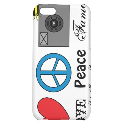 Love, Peace, Fame Cover For iPhone 5C