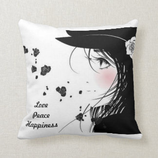 Love Peace Happiness American MoJo Pillow