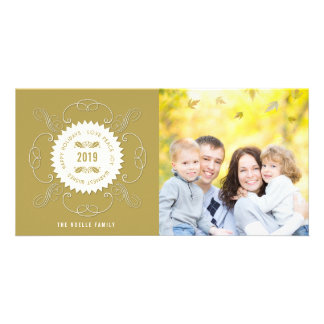 Love Peace Joy Christmas Seal Holiday Photo Card