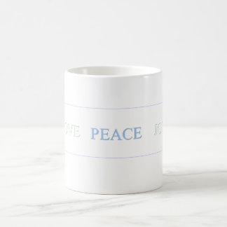 LOVE   PEACE   JOY - Customized Coffee Mug