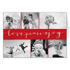 Love Peace Joy Multi Grid Holiday Photo Greetings Card