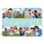 Love Peace Joy Multi Grid Holiday Photo Greetings Personalised Announcements