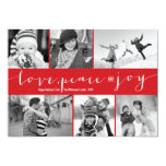 Love Peace Joy Multi Grid Holiday Photo Greetings Personalised Announcement