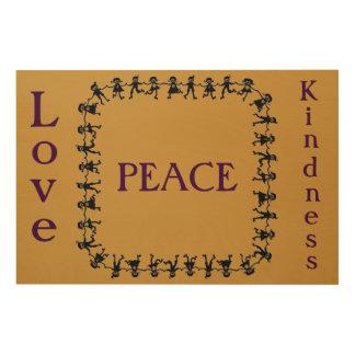 Love Peace Kindness Wood Wall Art