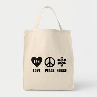 Love Peace LPN Grocery Tote Bag