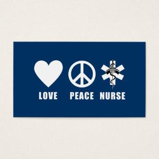 Love Peace Nurse Business Card