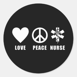 Love Peace Nurse Stickers