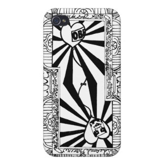 Love&Peace Playing card (Back) Case For The iPhone 4