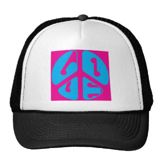 love peace sign mesh hats