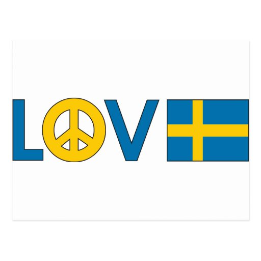 Love Peace Sweden Post Cards