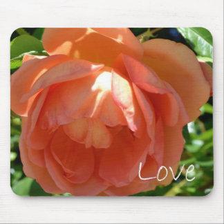 Love-Peach Rose Mouse Pad