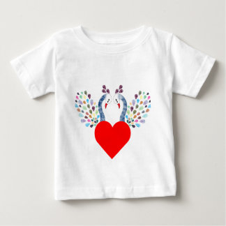 love pecock baby T-Shirt