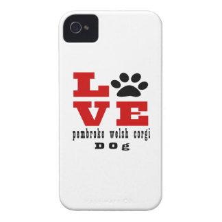 Love pembroke welsh corgi Dog Designes iPhone 4 Case-Mate Case