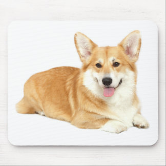 Love Pembroke Welsh Corgi Puppy Dog Red Hearts Mouse Pad