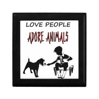 LOVE PEOPLE ADORES ANIMALS GIFT BOX