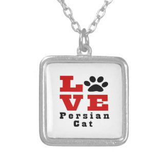 Love Persian Cat Designes Silver Plated Necklace