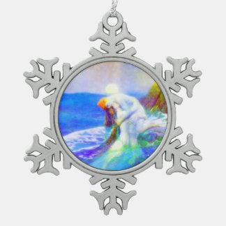 Love Pewter Snowflake Decoration