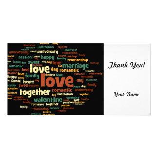 Love Customized Photo Card