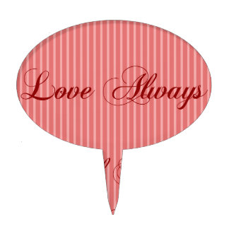 Love Phrases - Red Cake Toppers