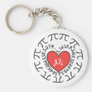 Love Pi 3.14 Pattern Math Themed Keychain