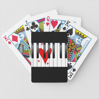 Love Piano Bicycle Playing Cards