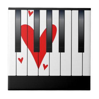 Love Piano Ceramic Tile