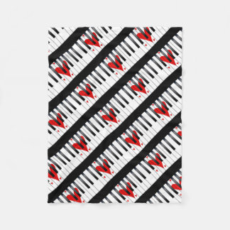 Love Piano Fleece Blanket