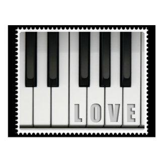 Love Piano Postcard