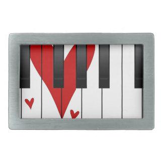 Love Piano Rectangular Belt Buckles