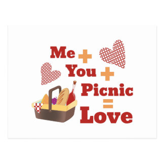 Love Picnic Postcard