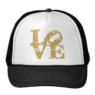 love pictures mesh hat