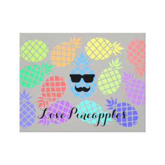 """""""Love Pineapples"""" Colorful Canvas"""