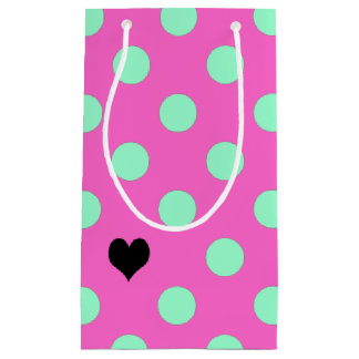 Love Pink And Mint Polka Dots Party Gift Bags