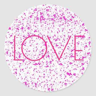 Love Pink Dalmatian Print Stickers