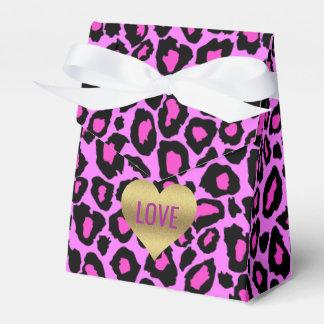 Love Pink & Leopard Celebration Favor Party Boxes