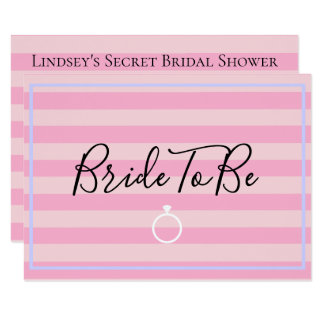 Love Pink Lingerie Bridal Shower Party Card