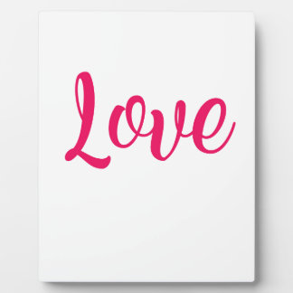 Love Pink Plaque