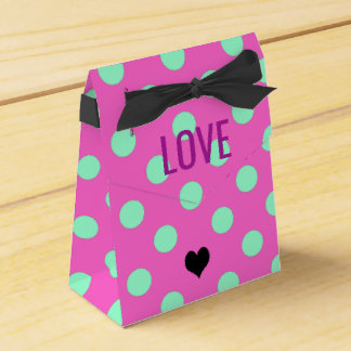 Love Pink & Polka Dots Favor Party Boxes