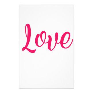 Love Pink Stationery