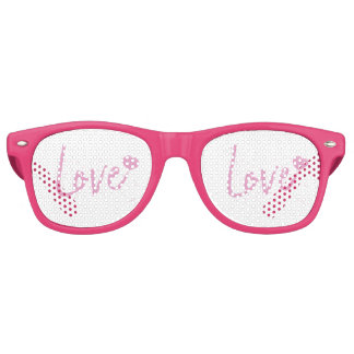 Love-PinkText Design Retro Sunglasses