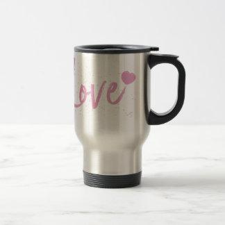 Love-PinkText Design Travel Mug