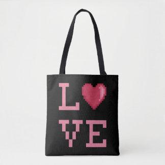 Love Pixels Totebag Tote Bag