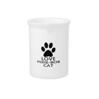 LOVE PIXIE-BOB CAT DESIGNS PITCHER